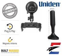 Uniden UHF CB Radio Plug & Play Windscreen Mounting Kit & Antenna