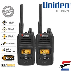 Uniden UH820S-2 80 Channels 2 Watt UHF Handheld Radio
