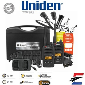 Uniden UH820S-2TP 80 Channels 2 Watt UHF Handheld Tradies Pack