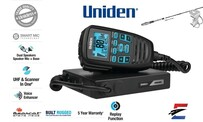 Uniden UH9080 Mini Compact UHF CB Mobile with Remote Mic + Antenna